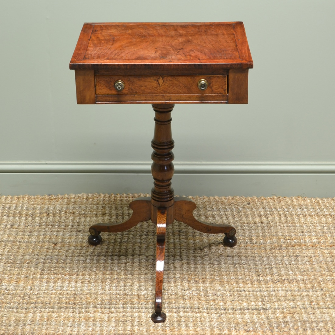 Country Regency Antique Walnut Lamp Table