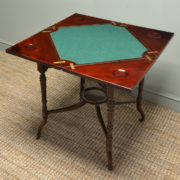 Unusual Arts And Crafts Quality Edwardian Walnut Antique Envelope Card Table