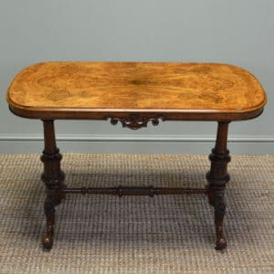 Spectacular Victorian Figured Burr Walnut Antique Side / Centre Table