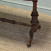 Spectacular Victorian Figured Burr Walnut Antique Side / Centre Table