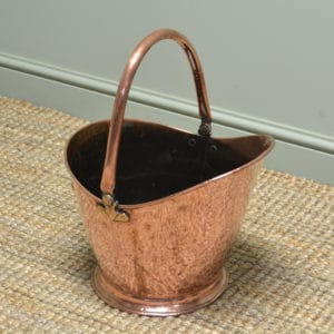 Super Quality Early Victorian Copper Coal Bucket