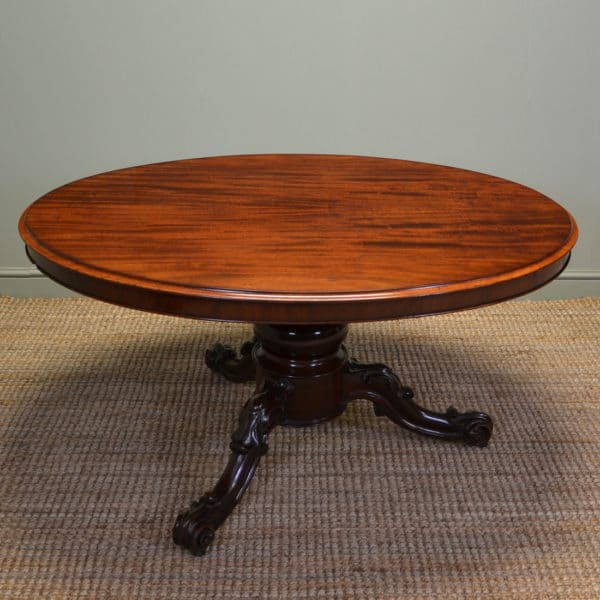 Large Quality Victorian Oval Mahogany Antique Dining Table