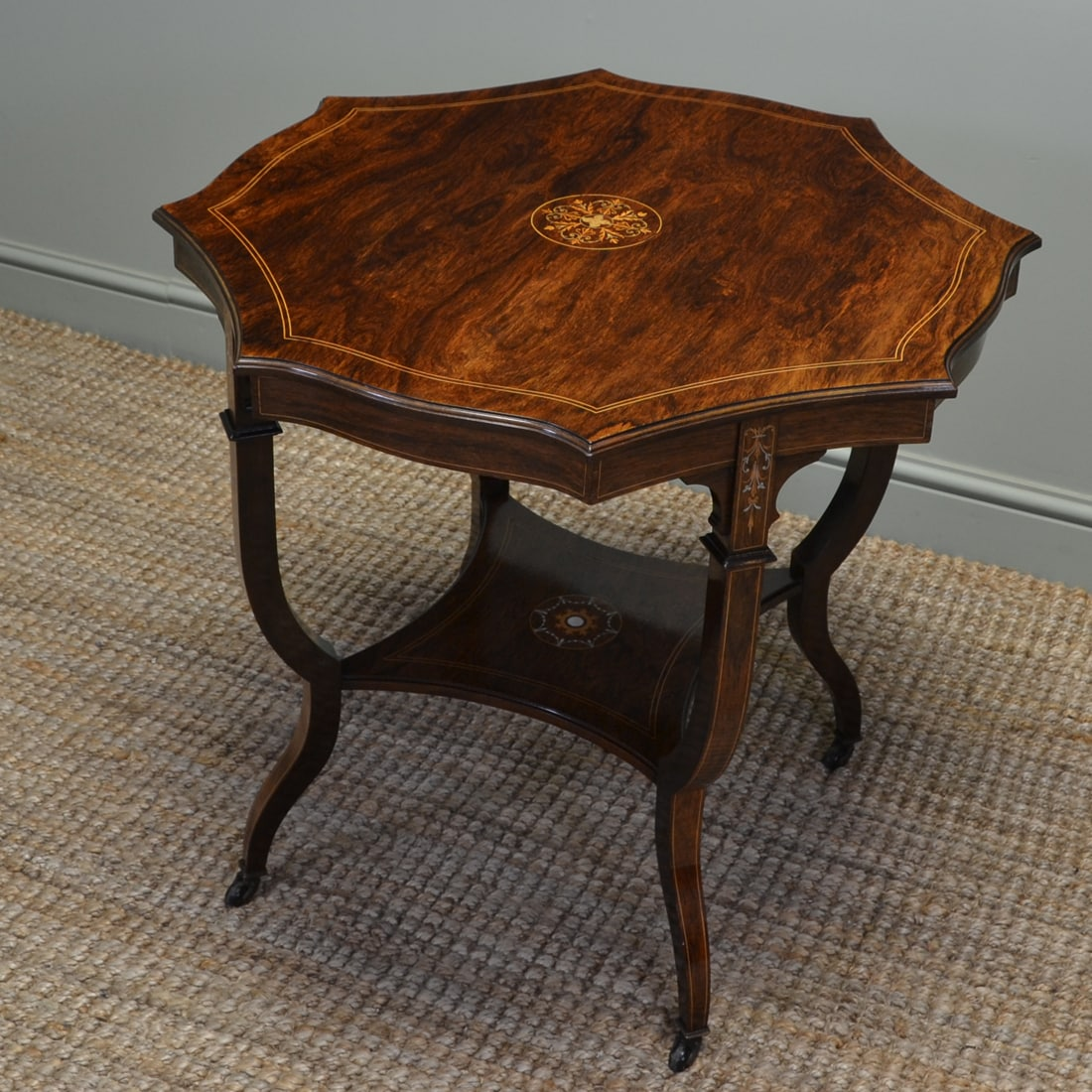 Spectacular exhibition quality antique victorian rosewood for Occasional tables