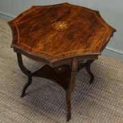 Spectacular Exhibition Quality Antique Victorian Rosewood Inlaid Occasional / Centre Table