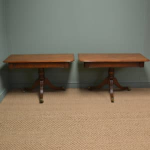 Pair Of Regency Antique Mahogany Console Tables