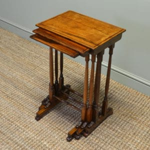 Spectacular Nest of Three Victorian Rich Rosewood Tables