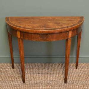 Fine Quality Inlaid Regency Mahogany Antique Card Table