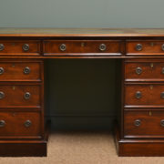Quality Victorian Mahogany Antique Pedestal Desk