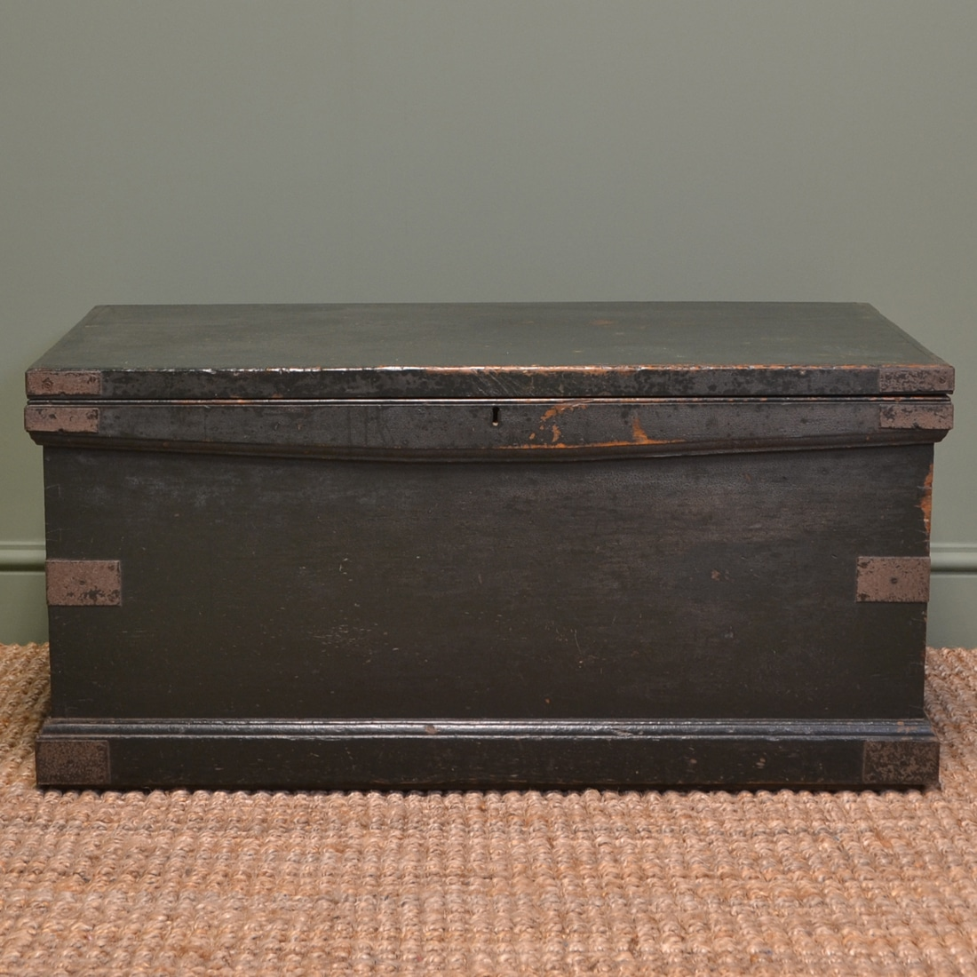 Victorian original Painted Chest / Coffee Table