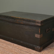 Antique Victorian Painted Chest / Coffee Table