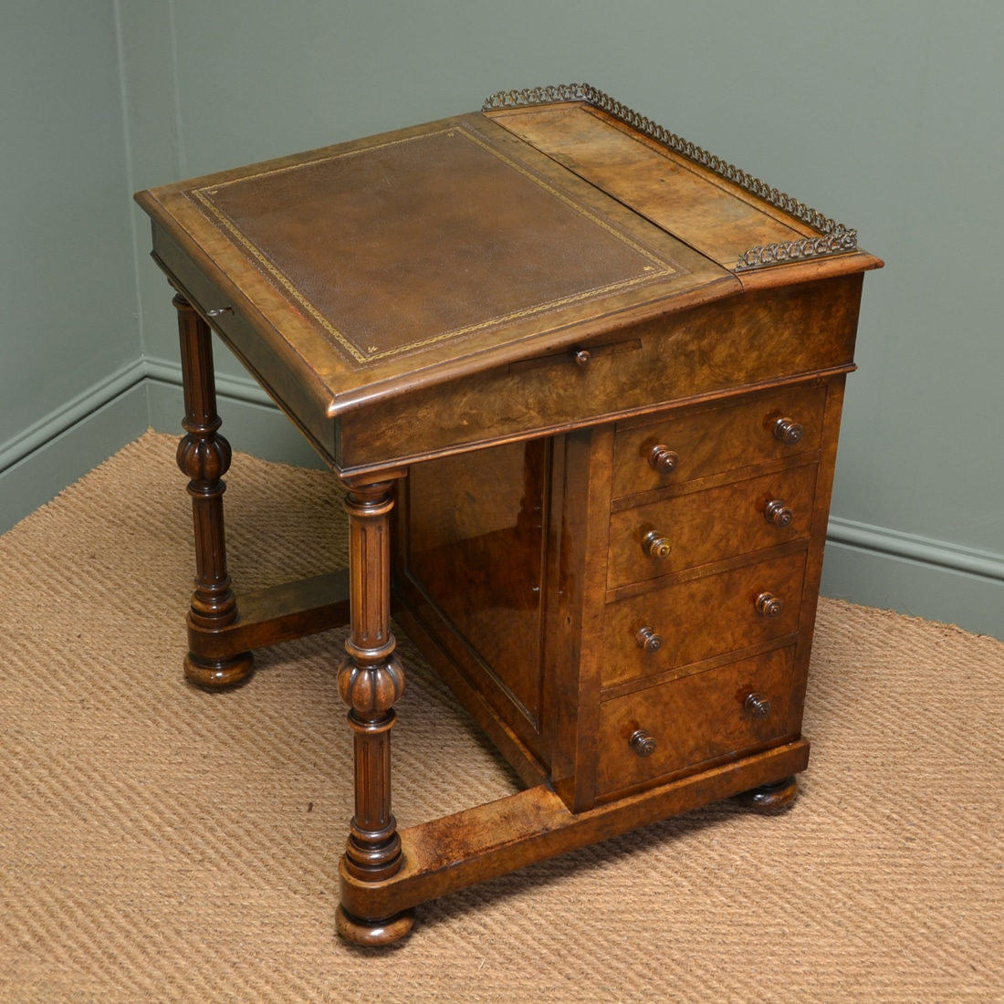 Antique Writing Desk ~ Antique davenport writing desk furniture