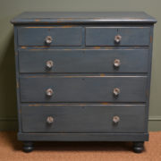 Charming Country Victorian Painted Antique Chest Of Drawers
