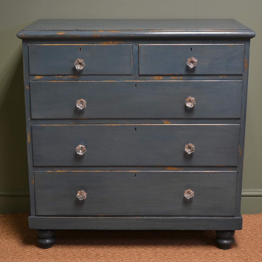 charming antique white wash furniture | Charming Country Victorian Painted Antique Chest Of ...