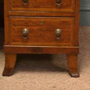 Large Inlaid Mahogany Victorian Antique Pedestal Desk
