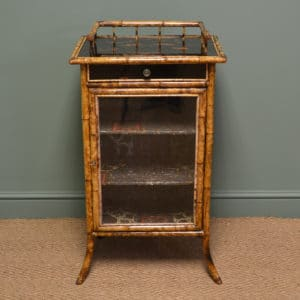 Unusual Decorative Victorian Antique Bamboo Cabinet
