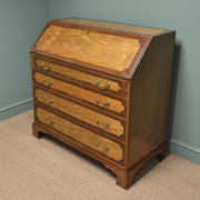 Superb Quality Satinwood and Mahogany Large Antique Bureau