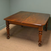 Quality Early Victorian Antique Mahogany Extending Dining Table