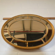 Decorative Victorian Antique Gilt Oval Mirror