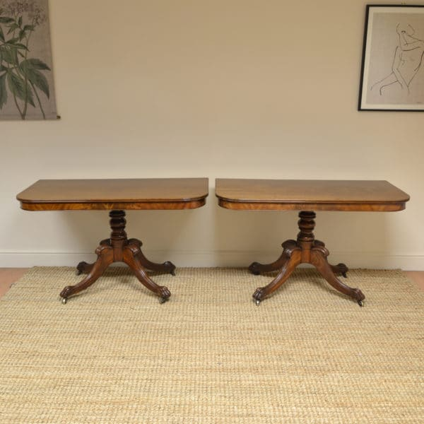 Pair of Regency Mahogany Antique Console Tables