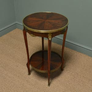 Circular French Rosewood Edwardian Antique Occasional / Lamp Table