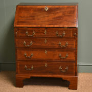 Striking Small Antique Mahogany Georgian Bureau / Writing Desk