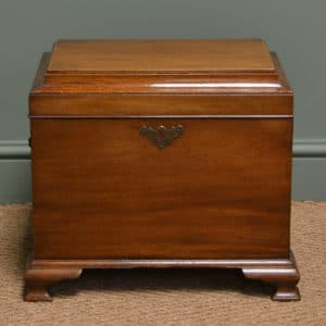 Small Mahogany Victorian Antique Magazine / Drinks Storage Chest