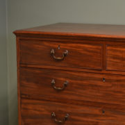 Large Characterful Georgian Mahogany Antique Chest Of Drawers