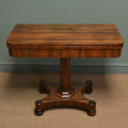 Spectacular Figured Rosewood William IV Antique Card / Games Table