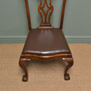 Set of Six Edwardian Walnut Antique Dining Chairs