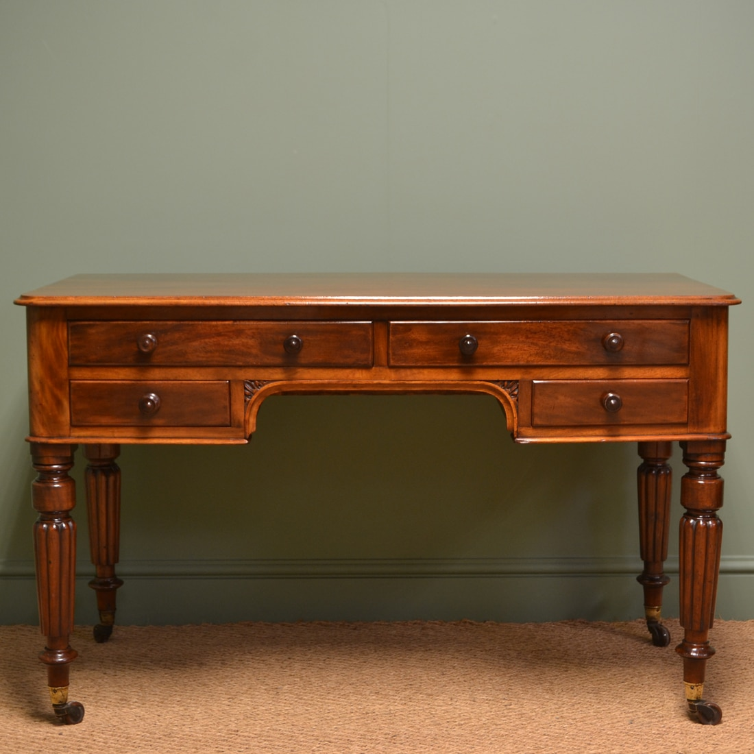 Spectacular Edwards & Roberts Victorian Mahogany Antique Side / Writing Table
