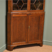 Large Period Oak Antique Georgian Floor Standing Corner Cabinet