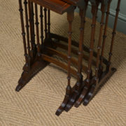 Superb Quality Figured Mahogany Edwardian Nest of Four Antique Occasional Tables