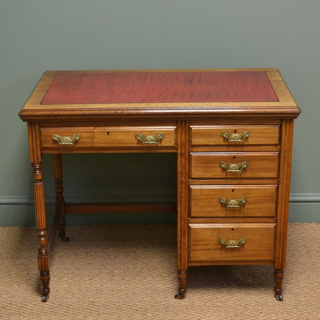 Antique Writing Desk ~ Quality small edwardian walnut antique writing desk