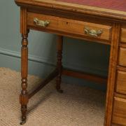 Quality Small Edwardian Walnut Antique Writing Desk