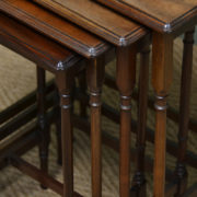 Fine Edwardian Walnut Antique Nest of Four Tables