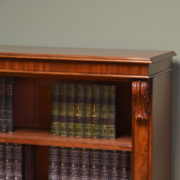 Quality Victorian Mahogany Antique Open Bookcase