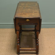 Seventeenth Century Country Oak Antique Gate Leg Table