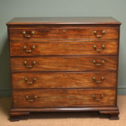 Rare High Quality Georgian Mahogany Antique Secretaire Chest of Drawers