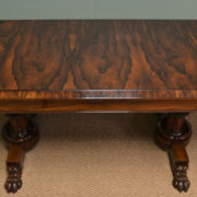 Rare Large Spectacular Figured Rosewood Antique Sofa / Console Table