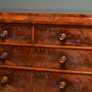 Spectacular Figured Mahogany Tall Antique Victorian Chest Of Drawers