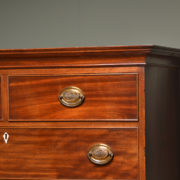 Characterful Georgian Mahogany Antique Chest on Chest