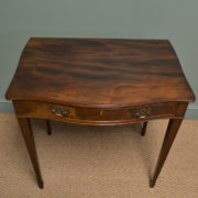 Elegant Edwardian Serpentine Mahogany Antique Side Table