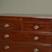 Characterful Georgian Mahogany Antique Chest Of Drawers