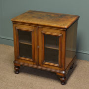 Small Characterful Victorian Walnut Antique Cabinet / TV Cupboard