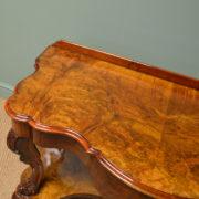 Spectacular Golden Walnut Victorian Antique Dressing Table