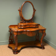 Spectacular Golden Walnut Victorian Antique Dressing Table