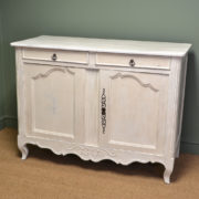 Large Country Painted French Antique Dresser / Cupboard