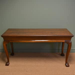Unusual Large Victorian Oak Antique Console Table