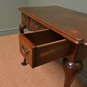 Period Country Walnut Antique Side Table / Low Boy