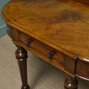 Superb Quality Figured Mahogany Antique Victorian Side / Console Table